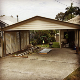 Our clients were looking for a more traditional looking carport, opting for weatherboards and gable roll flashings to match their home.