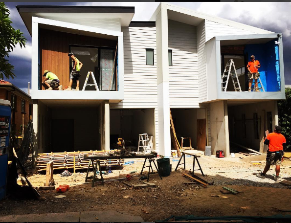 We helped our mates out at DB Services with the Cladding and Fix out on these townhouses.