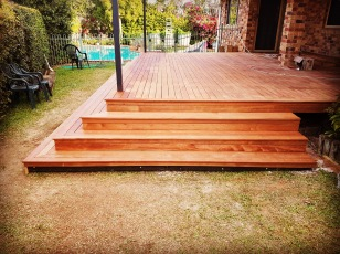 Deck and stairs, 90% complete