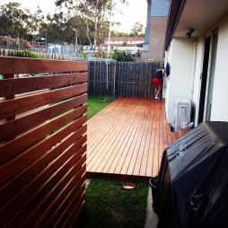 Completed deck and privacy screen